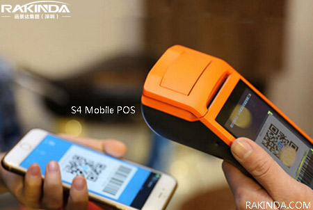 Rakinda S4 Mobile POS Barcode Scanner Using for Shopping Centers